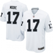 Men's Nike Oakland Raiders 17 Denarius Moore Game White NFL Jersey
