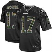Men's Nike Oakland Raiders 17 Denarius Moore Limited Black Camo Fashion NFL Jersey
