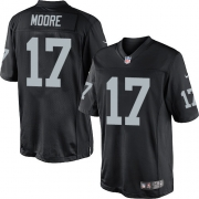 Men's Nike Oakland Raiders 17 Denarius Moore Limited Black Team Color NFL Jersey