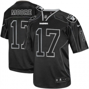 Men's Nike Oakland Raiders 17 Denarius Moore Limited Lights Out Black NFL Jersey