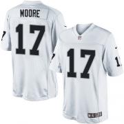 Men's Nike Oakland Raiders 17 Denarius Moore Limited White NFL Jersey