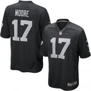 Youth Nike Oakland Raiders 17 Denarius Moore Elite Black Team Color NFL Jersey
