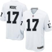 Youth Nike Oakland Raiders 17 Denarius Moore Elite White NFL Jersey
