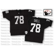Mitchell and Ness Oakland Raiders 78 Art Shell Black Team Color Authentic NFL Throwback Jersey