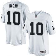 Men's Nike Oakland Raiders 10 Derek Hagan Limited White NFL Jersey