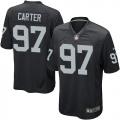 Men's Nike Oakland Raiders 97 Andre Carter Game Black Team Color NFL Jersey