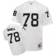 Mitchell and Ness Oakland Raiders 78 Art Shell White Authentic NFL Throwback Jersey