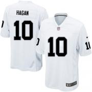 Men's Nike Oakland Raiders 10 Derek Hagan Game White NFL Jersey