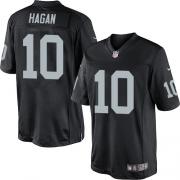 Men's Nike Oakland Raiders 10 Derek Hagan Limited Black Team Color NFL Jersey