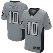 Men's Nike Oakland Raiders 10 Derek Hagan Limited Grey Shadow NFL Jersey