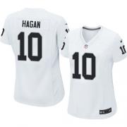 Women's Nike Oakland Raiders 10 Derek Hagan Game White NFL Jersey