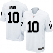 Youth Nike Oakland Raiders 10 Derek Hagan Elite White NFL Jersey