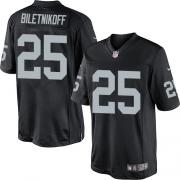 Men's Nike Oakland Raiders 25 Fred Biletnikoff Limited Black Team Color NFL Jersey