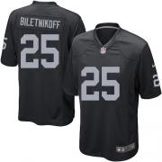 Men's Nike Oakland Raiders 25 Fred Biletnikoff Game Black Team Color NFL Jersey