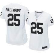 Women's Nike Oakland Raiders 25 Fred Biletnikoff Game White NFL Jersey