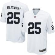 Youth Nike Oakland Raiders 25 Fred Biletnikoff Elite White NFL Jersey