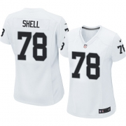 Women's Nike Oakland Raiders 78 Art Shell Game White NFL Jersey