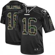 Men's Nike Oakland Raiders 16 George Blanda Elite Black Camo Fashion NFL Jersey
