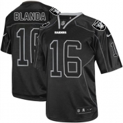Men's Nike Oakland Raiders 16 George Blanda Limited Lights Out Black NFL Jersey