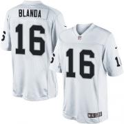 Men's Nike Oakland Raiders 16 George Blanda Limited White NFL Jersey