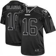 Men's Nike Oakland Raiders 16 George Blanda Elite Lights Out Black NFL Jersey