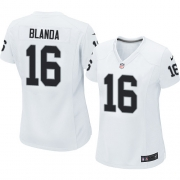 Women's Nike Oakland Raiders 16 George Blanda Elite White NFL Jersey