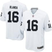 Youth Nike Oakland Raiders 16 George Blanda Elite White NFL Jersey