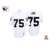 Mitchell and Ness Oakland Raiders 75 Howie Long White Authentic NFL Throwback Jersey