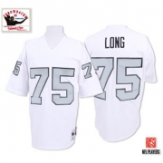 Mitchell And Ness Oakland Raiders 75 Howie Long White Silver No. Authentic NFL Jersey