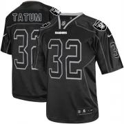 Men's Nike Oakland Raiders 32 Jack Tatum Elite Lights Out Black NFL Jersey