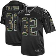 Men's Nike Oakland Raiders 32 Jack Tatum Limited Black Camo Fashion NFL Jersey