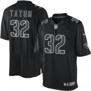 Men's Nike Oakland Raiders 32 Jack Tatum Elite Black Impact NFL Jersey