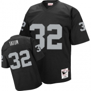 Mitchell and Ness Oakland Raiders 32 Jack Tatum Black Authentic Throwback NFL Jersey