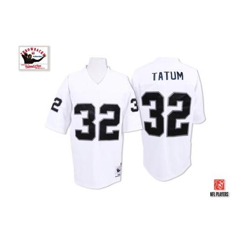 Mitchell and Ness Oakland Raiders 32 Jack Tatum White Authentic ...
