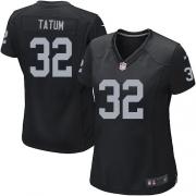 Women's Nike Oakland Raiders 32 Jack Tatum Game Black Team Color NFL Jersey