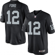 Men's Nike Oakland Raiders 12 Jacoby Ford Limited Black Team Color NFL Jersey