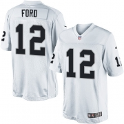 Men's Nike Oakland Raiders 12 Jacoby Ford Limited White NFL Jersey