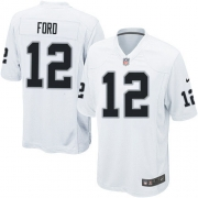 Men's Nike Oakland Raiders 12 Jacoby Ford Game White NFL Jersey