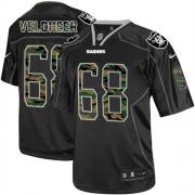 Men's Nike Oakland Raiders 68 Jared Veldheer Elite Black Camo Fashion NFL Jersey