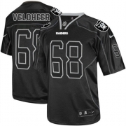 Men's Nike Oakland Raiders 68 Jared Veldheer Elite Lights Out Black NFL Jersey