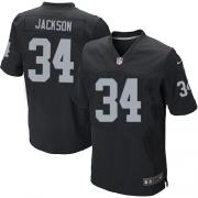 Men's Nike Oakland Raiders 34 Bo Jackson Elite Black Team Color NFL Jersey