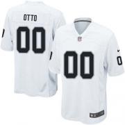 Men's Nike Oakland Raiders 0 Jim Otto Game White NFL Jersey