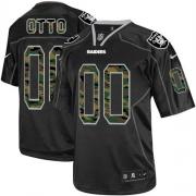 Men's Nike Oakland Raiders 0 Jim Otto Limited Black Camo Fashion NFL Jersey