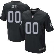 Men's Nike Oakland Raiders 0 Jim Otto Elite Black Team Color NFL Jersey