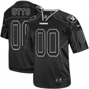 Men's Nike Oakland Raiders 0 Jim Otto Limited Lights Out Black NFL Jersey