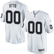 Men's Nike Oakland Raiders 0 Jim Otto Limited White NFL Jersey