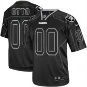 Men's Nike Oakland Raiders 0 Jim Otto Elite Lights Out Black NFL Jersey
