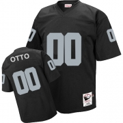 Mitchell and Ness Oakland Raiders 0 Jim Otto Black Team Color Authentic NFL Throwback Jersey