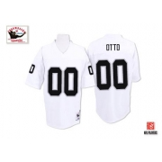 Mitchell and Ness Oakland Raiders 0 Jim Otto White Authentic NFL Throwback Jersey