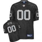 Reebok Oakland Raiders 0 Jim Otto Black Authentic Throwback NFL Jersey